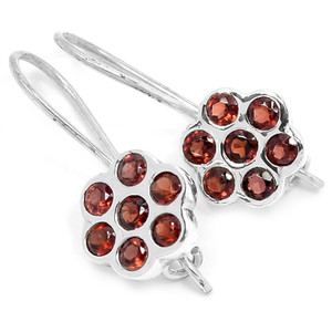 Garnet 925 Sterling Silver Earrings Jewelry E2331G