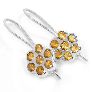 Citrine 925 Sterling Silver Earrings Jewelry E2331C