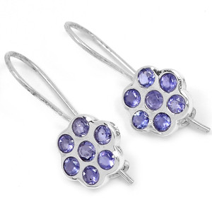 Iolite 925 Sterling Silver Earrings Jewelry E2331I