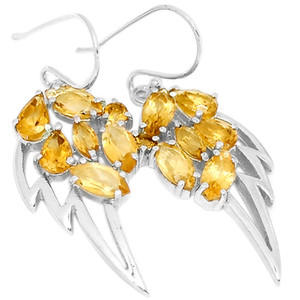 Citrine 925 Sterling Silver Earrings Jewelry E2350C