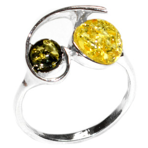 2.5g Authentic Baltic Amber 925 Sterling Silver Ring Jewelry s.9 A7445S9