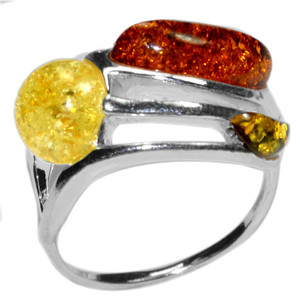 3.7g Authentic Baltic Amber 925 Sterling Silver Ring Jewelry s.4.5 A7410S45