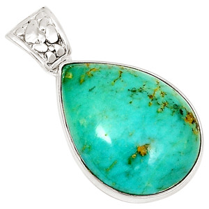 Blue Turquoise 925 Sterling Silver Pendant  Jewelry 10647P