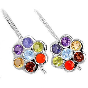 Healing Chakra 925 Sterling Silver Earrings Jewelry CP235