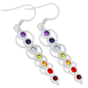 Caduceus Chakra 925 Sterling Silver Earrings Jewelry CP166