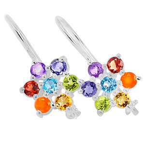 Healing Chakra 925 Sterling Silver Earrings Jewelry CP144