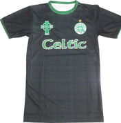 Embroidered Celtic Black Tartan Jersey
