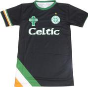 Embroidered Celtic Black With Tri-Color Bottom Corner