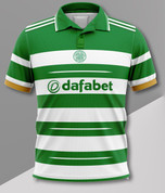 POLO CELTIC GREEN AND WHITE 9 in a row #548