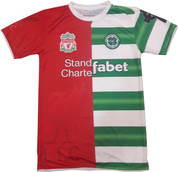 Embroidered Half Liverpool and Half Celtic