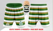 CELTIC SHORTS 2 POCKETS + FREE BUFF MASK #008
