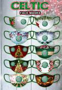 merry christmas CELTIC FACE MASKS
