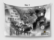 choose any 4 flags put the 4 flag numbers in the box size 70x120 cm. # irish rebels