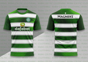 Celtic shirt Green and White #897