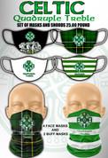 celtic quadruple treble mask set  #952
