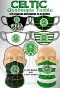 celtic quadruple treble mask set #953