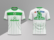celtic white green lines quadruple #956