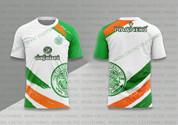 celtic white green white orange strips #1210