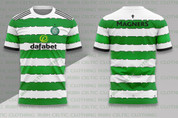 celtic green white jagged hoops #1211