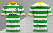 celtic green white hoops yellow collar #1213