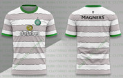 celtic white and grey hoops #1216