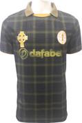 Celtic Black and Gold Tartan Jersey