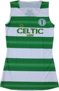 Green White Celtic Dress