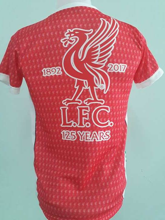 b2453acc6 Home · IRISH SHIRT  RED LIVERPOOL 125 YEARS JERSEY EMBROIDERED BADGE. Image  1. Hover over image to zoom