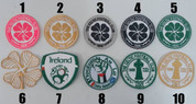 EMBROIDERED BADGES CAN BE SEWING ON TO ANY TOPS JACKECTS ECT,( PLEASE LEAVE A MESSAGE OF WHAT NUMBER BADGES YOU WANT)( 4 BADGES FOR 20.00 POUND)