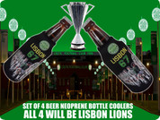 LISBON LIONS BOTTLE COOLERS 4 PCS