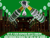 HOME SHIRT CELTIC BOTTLE COOLERS(4PCS) FREE NAME AND NUMBER ADD IN BOX BELOW,IF NOT ALL WILL SAY BROWN 8 ..