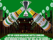 tri colour hoops CELTIC BOTTLE COOLERS(4PCS) FREE NAME AND NUMBER ADD IN BOX BELOW,IF NOT ALL WILL SAY BROWN 8 ..