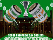 tri colour SHIRT CELTIC can COOLERS(4PCS) FREE NAME AND NUMBER ADD IN BOX BELOW,IF NOT ALL WILL SAY BROWN 8 ..