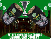 LISBON LIONS CAN COOLERS 4 PCS