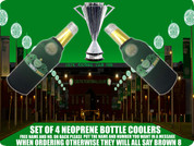 TREBLE WINNERS CELTIC NEOPRENE BOTTLE COOLERS(4PCS)