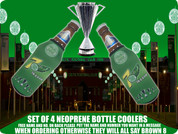 7UP CHAMPIONS CELTIC NEOPRENE BOTTLE COOLERS (4PCS)