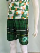 TARTAN TREBLE SHORTS, 2 ZIP POCKETS #169