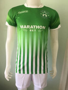 Hibs green with white lines #4