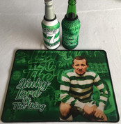 jinky mat and 2 beer coolers, rubber bottom stitched edges size 30x40  machine washable table mat size or mouse mat #1