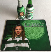 larsson mat and 2 beer coolers, rubber bottom stitched edges size 30x40  machine washable table mat size or mouse mat #4