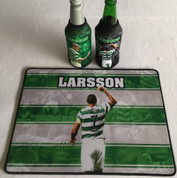 larsson  mat and 2 beer coolers, rubber bottom stitched edges size 30x40  machine washable table mat size or mouse mat #6