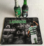 larsson mat and 2 beer coolers, rubber bottom stitched edges size 30x40  machine washable table mat size or mouse mat #7