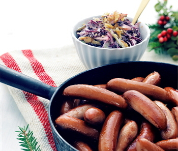 A traditional Swedish sausage that are small but juicy and delicious!