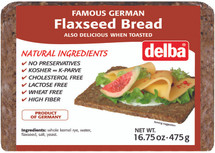 Delba Famous German Flaxseed Bread 16.75oz (475g)