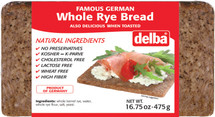 Delba Famous German Whole Rye 16.75 oz (475g)