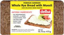 Delba Famous German Whole Rye Bread with Muesli 16.75oz (475g)