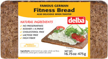 Delba Famous German Fitness Bread 16.75oz (475g)