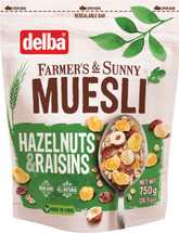 Delba Hazelnut and Raisin Muesli 26.5oz (750g)