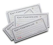 $100 Gift Certificate FREE SHIPPING