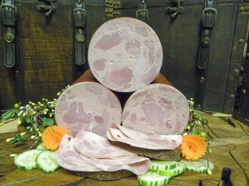#113 Bierschinken (Ham Bologna) 1 lb - geiers-sausage.com